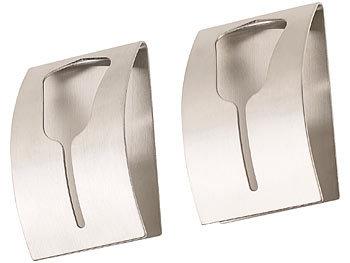 2er-Set Handtuchhalter aus rostfreiem Edelstahl, selbstklebend / Handtuchhalter