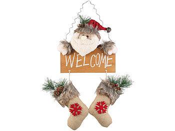 Weihnachtsmann-Tür-Dekoration mit