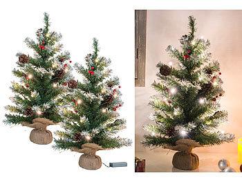 Britesta Weihnachtsbaum Batterie 2er Set Deko Weihnachtsbäume Mit