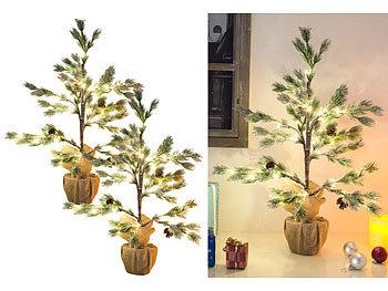 Britesta Tannenbaum Beleuchtung 2er Set Deko Nadelbäumchen Im Topf