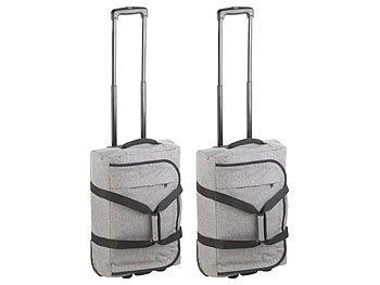 Faltbare 2in1-Handgepäck-Trolley & Reisetasche, 44 l, 2 kg, 2er-Set / Koffer