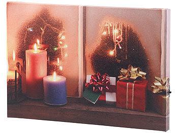 infactory beleuchtete bilder wandbild weihnachtliches fenster mit led beleuchtung 30 x 20 cm. Black Bedroom Furniture Sets. Home Design Ideas