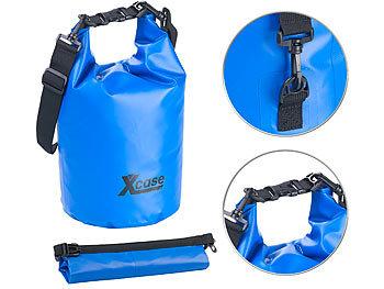 Wasserdichter Packsack, strapazierfähige Industrie-Plane, 10 l, blau / Packsack