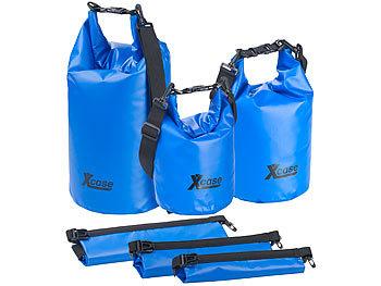 3er-Set Wasserdichte Packsäcke aus LKW-Plane, 5/10/20 Liter, blau / Packsack