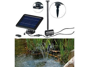 LED Springbrunnen mit Akku 9 Watt Power f/ür Garten Solarpumpe Gartenteich Teichpumpe Springbrunnenpumpe