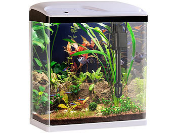 sweetypet garnelen aquarium nano aquarium komplett set mit led beleuchtung pumpe und filter. Black Bedroom Furniture Sets. Home Design Ideas