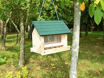 Vogelhaus aus Metall zum Aufhängen Futterstation für Vögel für Balkon und Garten
