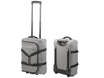 73b5dcc62f88d Xcase Koffer-Trolley klein  Faltbarer 2in1-Handgepäck-Trolley und ...