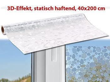 Infactory 3d sichtschutz folie kiesel statisch haftend - Fensterfolie statisch anbringen ...