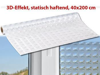 Infactory 3d Sichtschutz Folie Rhombus Statisch Haftend