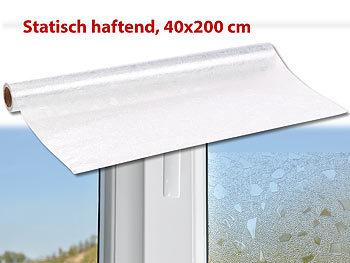 infactory sichtschutzfolie fenster sichtschutz folie scherbe statisch haftend 40x200 cm. Black Bedroom Furniture Sets. Home Design Ideas