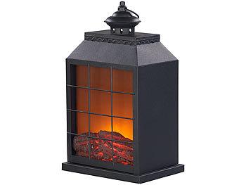 carlo milano led kamin elektro deko kamin flammen optik usb batterie betrieb 38 cm h he. Black Bedroom Furniture Sets. Home Design Ideas