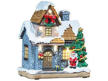 LED Weihnachtsdorf 6 Häuser  mehrfarbig inclusiv Batterien