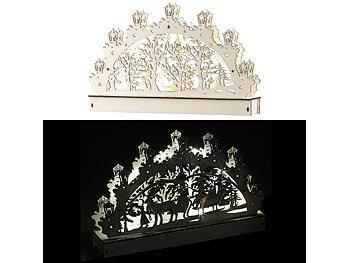 Schwibbogen Beleuchtung Led | Britesta Holz Schwibbogen Mit Led Beleuchtung Und Rentier Motiv