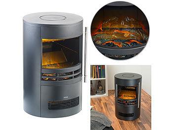Design-Elektro-Kaminofen mit 3D-Flammeneffekt, 2 Heizstufen, 2.000 W / Elektrokamin