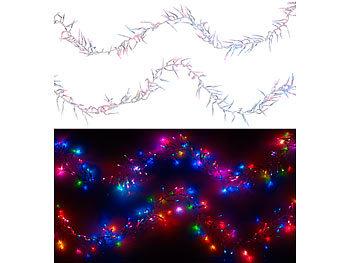Lunartec Büschellichterkette: LED Büschel Lichterkette mit