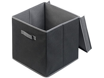 Berühmt PEARL Faltbox: 2er-Set Aufbewahrungsboxen mit Deckel, faltbar MX94