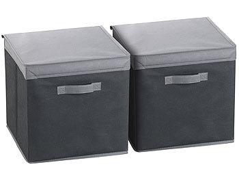 Beliebt PEARL Faltbox: 2er-Set Aufbewahrungsboxen mit Deckel, faltbar UN28