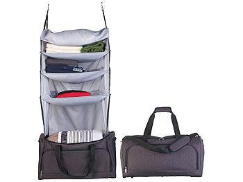 Faltbare Reisetasche mit integriertem Wäsche-Organizer zum Aufhängen / Reisetasche