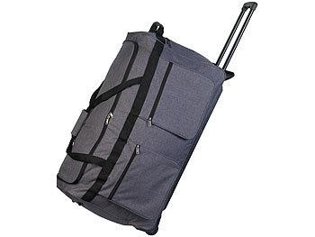 Faltbare XXL-Reisetasche mit Trolley-Funktion & Teleskop-Griff, 160 l / Reisetasche