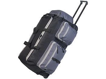 Faltbare XL-Reisetasche mit Trolley-Funktion & Teleskop-Griff, 72 l / Reisetasche