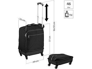 Ultraleichter Reise-Trolley mit 46 Litern Volumen, bis 30 kg, 4 Rollen / Koffer