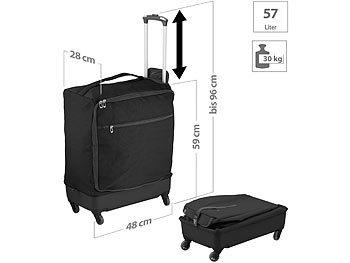 Ultraleichter Reise-Trolley mit 57 Litern Volumen, bis 30 kg, 4 Rollen / Koffer