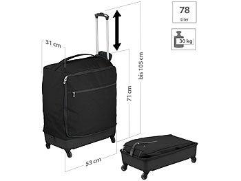 Ultraleichter Reise-Trolley mit 78 Litern Volumen, bis 30 kg, 4 Rollen / Koffer
