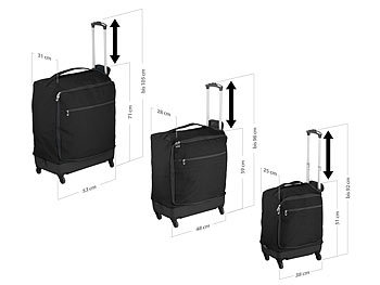 3 ultraleichte  4 Rollen Reise-Trolleys, 46, 57 und 78 Liter / Koffer