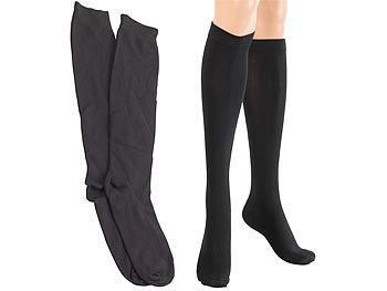 Reise-Kniestrümpfe mit Stützfunktion in schwarz, 1 Paar Grösse L / Socken