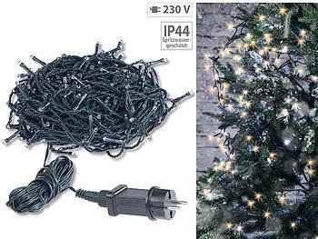 LED Lichterkette mit 200 LEDs warmweiss 20 Meter Weihnachtsbaumkette für innen u