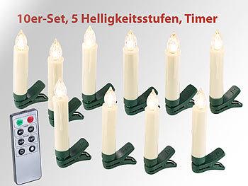 Weihnachtsbeleuchtung Innen Kerzen.Lunartec Christbaumkerzen 10er Set Led Weihnachtsbaum Kerzen Mit Ir