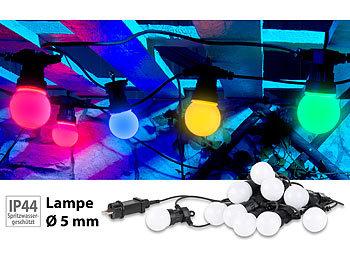 Party-LED-Lichterkette m. 10 LED-Birnen, 3 Watt, IP44, 4-farbig, 4,5 m / Lichterkette