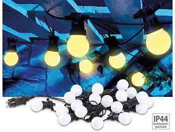 Party-LED-Lichterkette m. 20 LED-Birnen, 6 Watt, IP44, warmweiss, 9,5 m / Lichterkette