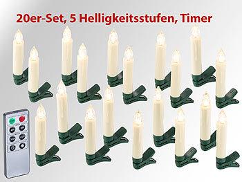 Tannenbaum Weiss Led.Lunartec Weihnachtsbaumkerze 20er Set Led Weihnachtsbaum Kerzen Mit
