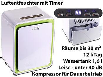 Digitaler Luftentfeuchter mit Timer für Räume bis 30 m², 12 Liter/Tag / Luftentfeuchter