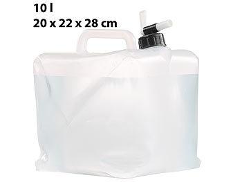 Faltbarer Wasserkanister mit Zapfhahn, 10 Liter, ideal für Trinkwasser / Wasserkanister