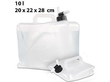 semptec falst wasser fass faltbarer wasserkanister mit zapfhahn 5 10 und 20 liter set kanister. Black Bedroom Furniture Sets. Home Design Ideas