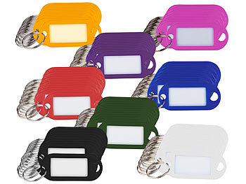 Schlüsselschilder zum Beschriften Schlüsselanhänger XL Anhänger Etiketten ROT