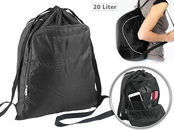 2in1-Turnbeutel-Rucksack mit aufklappbarem Organizer-Fach, 20 l / Rucksack