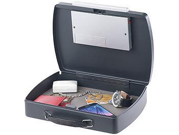 Stahl Autosafe A4 Elektronik-Schloss Xcase Geldkassette: Geld- /& Dokumentenkassette Stahlkabel