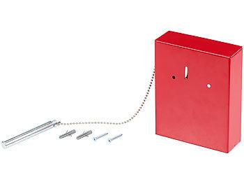 E//D//E Notschlüsselkasten mit Klöppel 150 x 150 x 40 mm