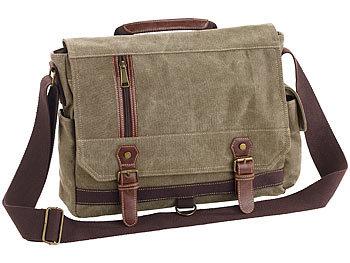 dc63632742b19 Xcase Geräumige Canvas-Retro-Umhängetasche für Notebooks bis 33 cm 13