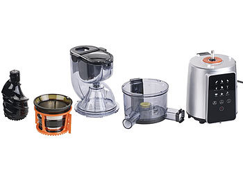 Rosenstein Und Sohne Slow Juicer Test : Rosenstein & Sohne Juice Maker: 3in1-Slow-Juicer & Entsafter mit Gemuse-Reibe & Eis-Aufsatz, 200 ...