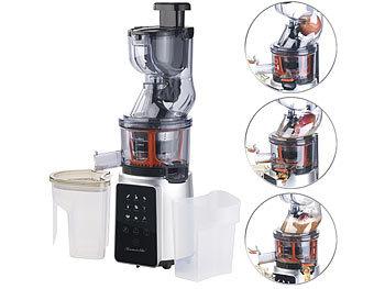 Rosenstein & Sohne Juice Maker: 3in1-Slow-Juicer & Entsafter mit Gemuse-Reibe & Eis-Aufsatz, 200 ...