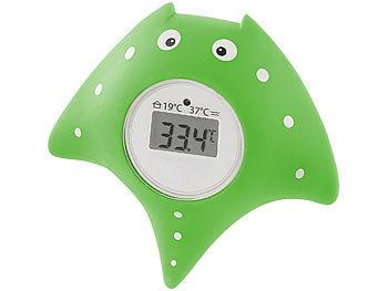 Badethermometer Kinderthermometer Fisch 5x15cm grün