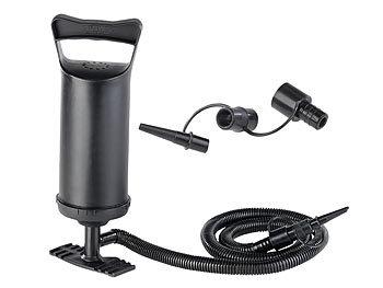Doppelhub-Hand-Luftpumpe mit 4 Auslass-Düsen, 2x 0,7 l Pumpleistung / Luftpumpe