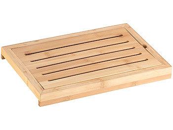 rosenstein s hne holzbrett bambus schneidebrett mit kr melrost und auffangschale. Black Bedroom Furniture Sets. Home Design Ideas