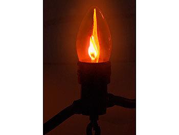 lichterkette flammen außen 10 lampen