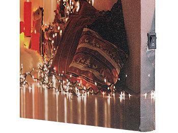 Weihnachtsbilder Kamin.Infactory Weihnachtsbilder Wandbild Weihnachten Mit